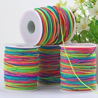 85 / 100m Arcobaleno Colorato Corda elastica 1mm Filettatura Stretch String Craft per Beaking Treiding Jewelry fai da te Handmade