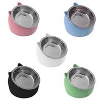 Acciaio inossidabile Cat Dog Bowl 15 ° Utensili antiscivolo antiscivolo inclinato Cucciolo di alimentazione dei contenitori