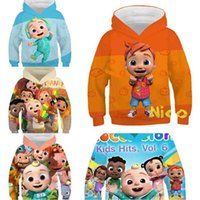 4-14Y Kids Chidlren Cocomelon Cartoon Hoodies Pullover Tops Tiktok Long Sleeve Hooded Sweater Sweat Shirt Autumn Sports Outdoor OutfitTracksuit Top G77DJVF