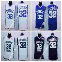 NCAA Duke Blue Devils 32 Christian Laettner 4 Camisas Uniformes 1992 EUA Dream Equipe Fashion 32 Jimmer FreDette Equipe Azul Marinho Branco