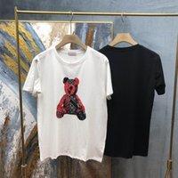 2021 New Mens Designer T Shirt Christian Fashion Uomini Casual T Shirts Man Paris Francia Street Shorts Sleeve Abbigliamento Abbigliamento Tshirst Cartoon Bear