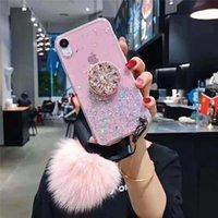 P30 P20PRO 3D Diamond Diamonder Stand Glitter DIY меховой шарик мягкий телефон чехол для Huawei Mate 30 20 Pro Mate 9 10 Pro P9 10 плюс крышка