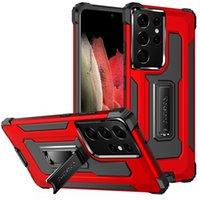 삼성 갤럭시 A02 M02 A02S A72 A71 A91 S10 Lite A52 A51 5G A31 커버 용 하이브리드 킥 스탠드