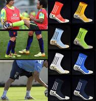 Sıcak Yüksek Kaliteli Futbol Çorap Anti Kayma Kadın Futbol Çorap Erkekler Pamuk Calcetines Spor Çoraplar TRUSOX ile aynı tipte