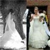 2013 kant zeemeermin trouwjurken met sweetheart halslijn kant geappliceerd tule rok en lange kathedraal trein Dhyz 01 (Koop 1 Krijgen