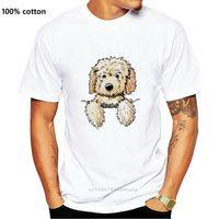 Inktastic Pocket Goldendoodle T-Shirt - Kiniart Doodle Dog Labradoodle Pet Art Full-Figured Tee Shirt