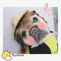 Dog Apparel [MPK Store] Hat, Pet Summer Straw Cute Looking Hat For Cats And Dogs
