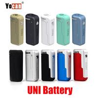 Yocan Uni Box Mod 650mAh Precalentamiento VV batería 10 colores para 510 espesor de aceite Vape precalentamiento Cartucho ECIG mods