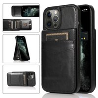 Shockproof Phone Cases for iPhone 12 11 Pro Max X XS XR 7 8 Samsung Galaxy S20 Ultra Note10 S10 Plus Multi Cards PU Leather Stand Protective Cover with Photo Frame