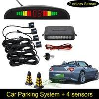 Car LED Parking Sensor Assistance Reverse Backup Radar Monitor System Backlight Display+4 Sensors