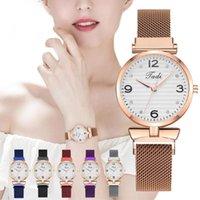 Orologi da polso fibbia magnetica Piccolo orologio digitale con punteggio in lega di quarzo in lega di lusso orologi casual relogio feminino zegarek damski