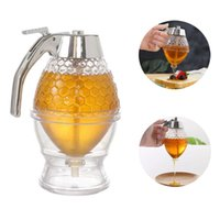 Squeeze Bottle Honey Jar Container Home Kitchen Tools Bee Drip Dispenser Kettle Storage Pot Stand Holder Juice Syrup Cup