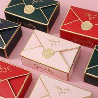 Caja de regalo creativa simple Embalaje Sobre Forma Regalo de boda Caja de dulces Favores Fiesta de cumpleaños Navidad Decoración de jalwery
