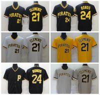 "Jerseys de béisbol 21 Roberto Clemente 24 Barry Bonds 8 Stargell 2021 Hombres Mujeres Jóvenes Pittsburgh ""Piratas"" Jerseys Tamaño S-4XL 729"