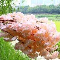 Plantes artificielles de la fleur de cerisier simulé Accueil Décoration Silk Cerisier Fleurs d'artificiels Bouquet Festival de mariage Fête décorative 36 S2