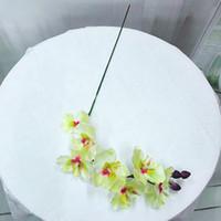 الحرير زهرة الاصطناعي العثة السحلية فراشة السحلية للمنزل الزفاف مهرجان الديكور الخالد phalaenopsis الزهور الاصطناعية GWE5082