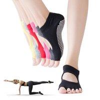 Sports Socks Toeless Non Skid Sticky Grip Yoga For Women Anti Slip Lady Gym Fitness Pilates Professional Dance Sock