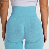 Упругая стройная фитнес тренажерный зал тренировки леггинсы приклада подъемник морщин леггинсы йога брюки спортивная одежда женщины высокая талия бежать