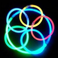20cmマルチカラーグロースティックブレスレットネックレスネオンパーティーLED点滅ライトワンドノベルティおもちゃボーカルコンサートフラッシュ