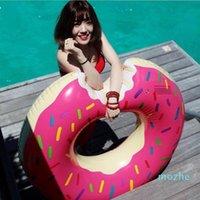 80см 2021 летние воды спортивные игрушки гигантские донут плавать кольцо поплавок ПВХ надувной буй плавание кольцо