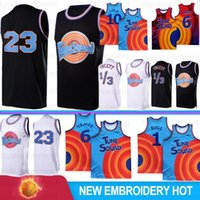 LeBron 6 James 23 Michael NCAA Basketball Jerseys College 2021 Blue Bugs Movie Space Jam 2 Tune Squad 10 Lola D.Duck! Taz 1/3 Tweety 7 R.Runner Men Jersey S-XXL