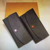 Klasik Emilie Flap Düğmesi Kadınlar Uzun Cüzdan Moda Egzotik Deri Fermuar Sikke Çanta Kadın Kart Tutucu Debriyaj Çanta M60697 M61289 N63544 -1