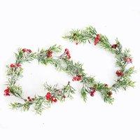 Weihnachtsdekor Rattan Blume Baum Ornament Outdoor Rot Schneeflocke Zweig Natürliche Kiefernkegel Bunte Dekoration Schaum Eisendraht GWF10284