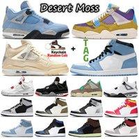 Sail jumpman 4 4s University Blue sneakers basketball shoes 1 1s Shadow 2.0 obsidian Silver Toe Tie Dye Twist Sports women mens trainers