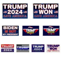 3 * 5 ft Trump Won Bandiera 2024 Bandiere elettorali Donald the Mogul Salva America 150 * 90cm Banner DHL Shipping