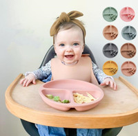 Baby Food Bowl Children Silicone Meal Plate Fork Spoon Set Baby Cutlery Learn Eat Training Spoon Set YL426