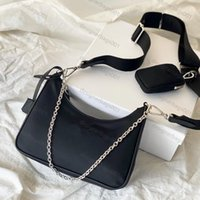 Bolsos para mujer Top Calidad Crossbody Monederos Lady Handbag Tote Vintage Nylon Bolsa de hombro Canal Hobo Fashion Pink Bag