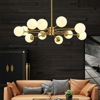 Chandeliers Nordic Modern Full Copper Magic Bean Molecular Chandelier Creative Personality Living Room Bedroom Study Dining