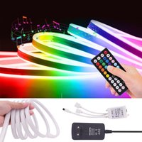 Strips 12V LED RGB Neon Strip Light Dimmable 3535 72leds m Soft Flexible Tape Waterproof DIY Sign Outdoor Remote Control