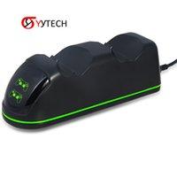 SYYTECH 2 in 1 Ladegerät Licht Dual Ladedock für PS4 Controller Griff Ersatz Reparatur Zubehör Spiel