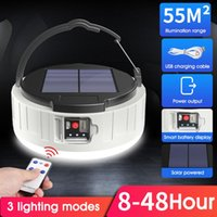 Portable Lanterns Solar LED Camping Light USB Rechargeable Bulb For Outdoor Tent Lamp Emergency Lights Fishing Hiking