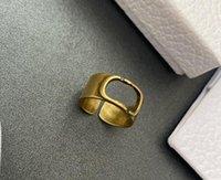 2022 Messing Ring Blanks Verstelbare Vinger Ringen Bases voor Sieraden Maken Alfabet Letter Charm Instelling Bulk Designs met tas