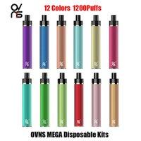 Kit de périphérique jetable JCstick MEGA MEGA 1200 Puffs 950MAH Batterie Prérublée de 5 ml Pod Vape Pen Véritable VS Bar Plus Max