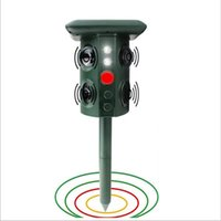 Smart Solar Mole Repellent Ultrasonic Repeller Electronic Outdoor Pest Animal Stopper Sonic Deterrent Mouse Insect Rodent Defender Detector Waterproof