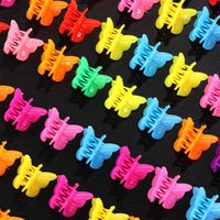 Wholesale Mini Butterfly Hair Claws Clips Barrettes Mixed Color Hairpin Clip Hair Accessories for Women Girls Baby Universal H0916