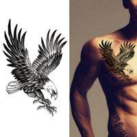 새로운 독수리 방수 임시 바디 아트 팔 어깨 가슴 문신 스티커 여성 / 남성 뜨거운 판매