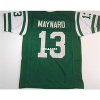 668 Don Maynard # 13 Dikişli Dikişli Retro Jersey Tam Nakış Jersey Boyutu S-4XL veya Özel Herhangi Bir Adı veya Sayı Forması