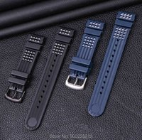20-22mm Men Black Silicone Rubber Waterproof Sport Wrist Watch Band Strap watch accessories High Quality Watchbands Bracelet