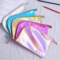 Kreative Frauen Laser Bunte Reise Kosmetiktüte Wasserdichte Reißverschluss Reisen Tragbare Make up Bag Case Waschen Ponch Weibliche Geldbörsen