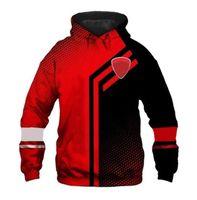 2021 Personnalisable Moto 3D Impression Pullover Homme Pull à capuche Homme Jacket Automne Leisure Sports Plus Velvet Moto Veste de moto