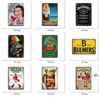 Metallo Birra Poster Corona Segni di latta extra Segni retrò Adesivi murali Decorazione Art Placca Vintage Home Decor Bar Pub Cafe FWB5635
