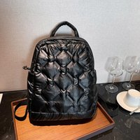 Зимой новый рюкзак женщин пуховик большой емкости сумка на плечо мода девушки путешествия рюкзаки колледж школьная сумка рюкзак