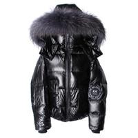 Маамаоконг женская пальто зимой толщиной теплый с длинными рукавами свободный карманный утка вниз по короткой женской водонепроницаемой пуховой куртке Parkas 2021 H0830