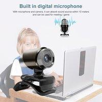 Webcams Adjustable HD Webcam USB Plug Web Cam For Laptop Desktop Video Meeting With Microphone Computer Driver-free