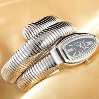 Biżuteria Kryształy Wąż Bransoletka Zegarki Kobiety Bransoletka Nieskończoność Zegarek Dziewczyny Zegar Kwarcowy Relojes1