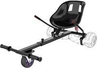 서스펜션 호버 보드 Go-Kart Attachment 스쿠터 부품 액세서리 프레임 길이 조절 가능한 호버 보드 좌석 액세서리 어린이 / 성인 (블랙)